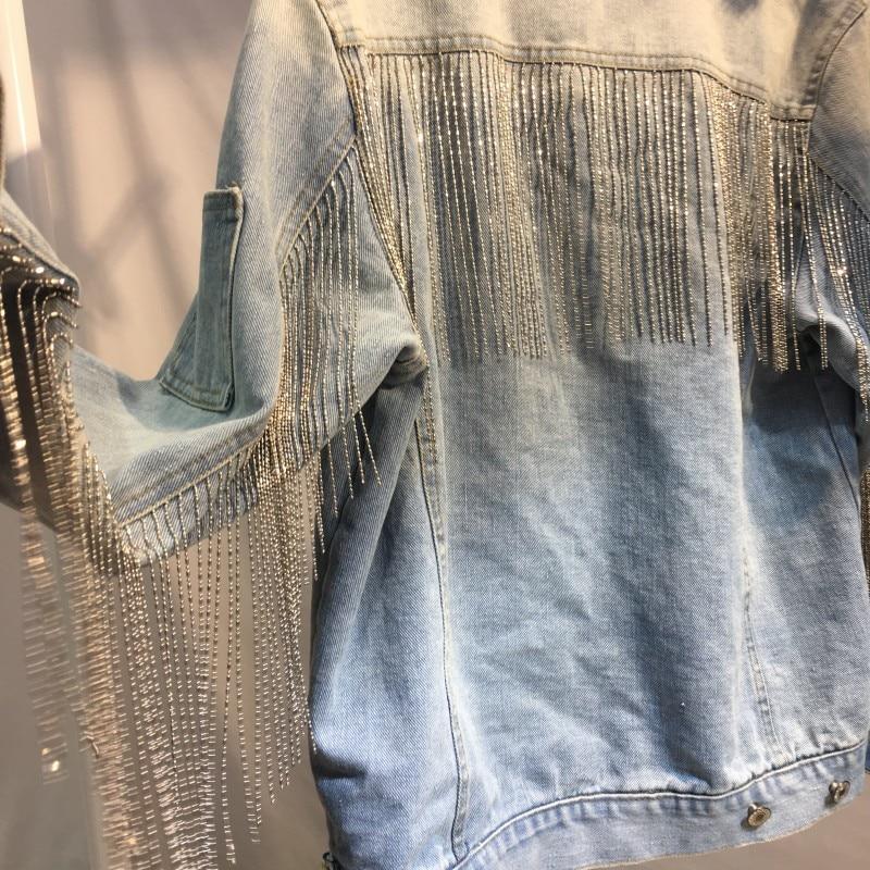 Chian Femmes Outwear Veste Lâche Gland Manteau De L'europe Casual 2019 Mode Denim Vestes OBwFFZq