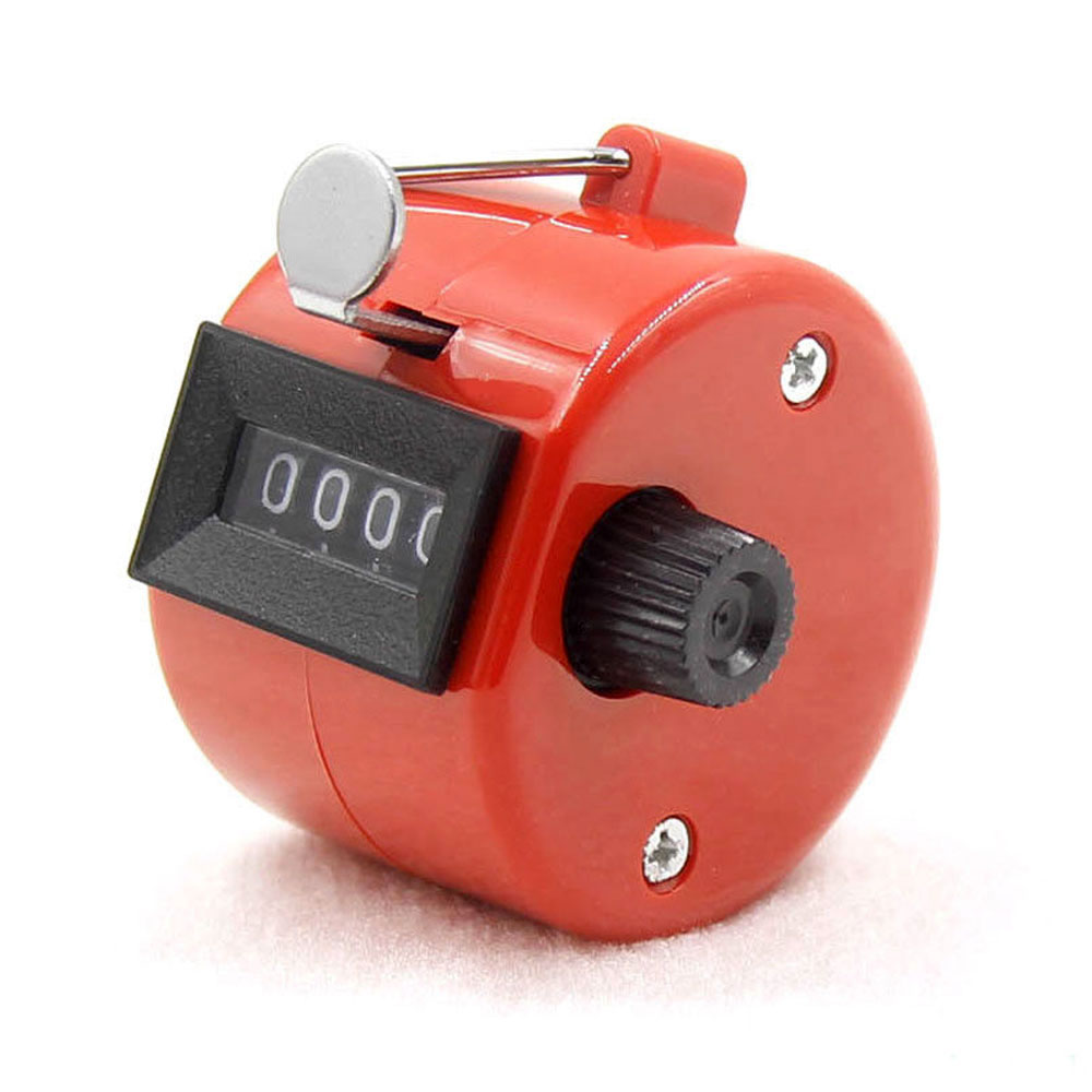4-разрядный счетчик ручной счетчик Гольф-кликер Талли Портативный Механические универсальный - Цвет: red