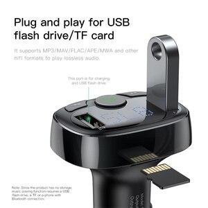 Image 4 - Baseus FM משדר מטען לרכב Aux מודולטור Bluetooth רכב טעינת ערכת דיבורית אודיו MP3 נגן 3.4A כפולה USB רכב מטען