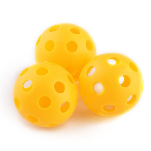 20 x Golf Tennis Practice Training Balls Airflow Hollow Perforated Plastic