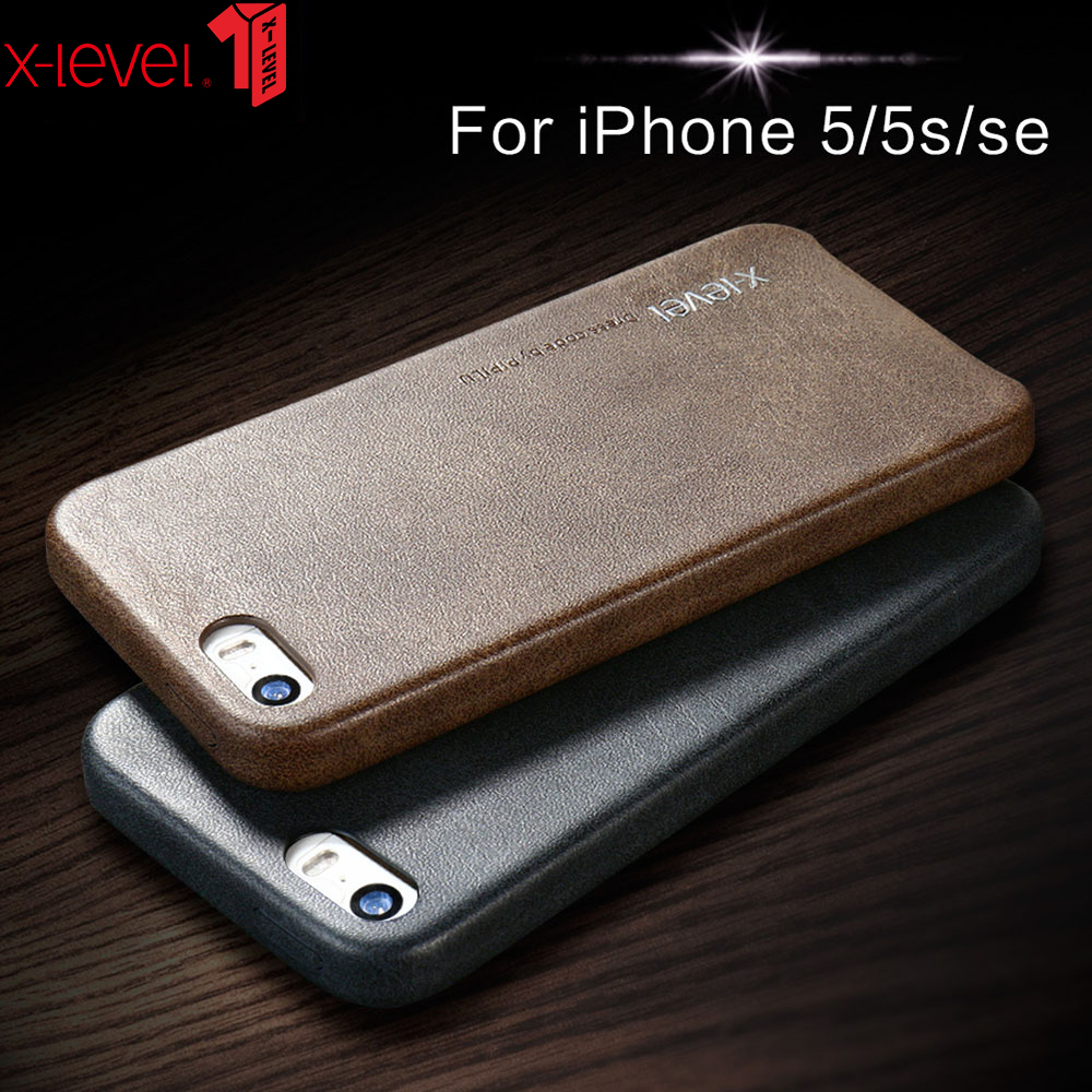 X-Level Leather Case For IPhone 5 5S SE Original Shockproof Luxury Business Vintage Phone Back Cover For IPhone 5 5S SE Case