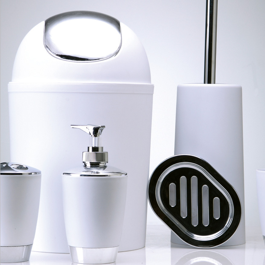 Prullenbak Mode Wc Badkamer suite Prinking badkamer wassen pak 6 ...