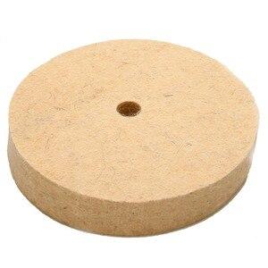 """Image 2 - 4 """"колесо с шерстяного войлока полировка шлифовального круга Полировочный диск Pad роторный инструмент 100*20 мм абразивные инструменты"""