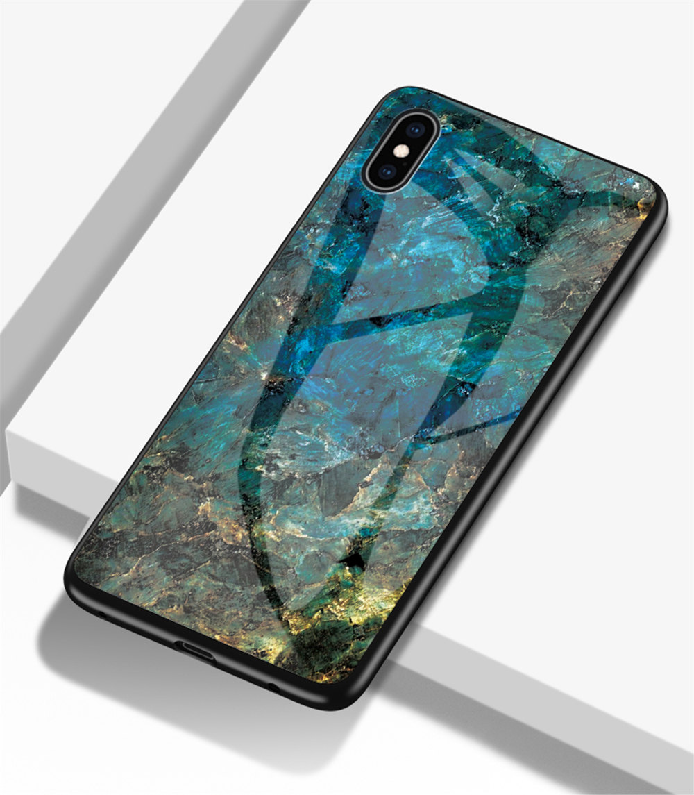 Mobile Phone - Luxury Marble Phone Case for iPhone X Xs Max Glass PC pigeo