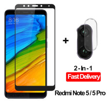 2-in-1 Camera Glass Redmi Note 5 Tempered Screen Protector Xiaomi Film redmi note screen protector