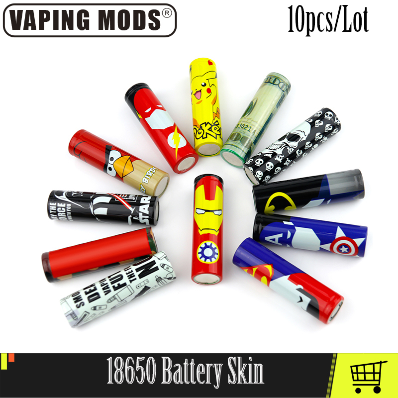 18650 Battery Skin Sticker For 18650 Battery Vape Accessories 10 Pcs/lot
