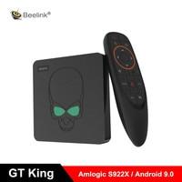 Beelink GT King Smart Android 9,0 ТВ бокс Amlogic S922X 4 Гб 64 Гб 2,4 г Голосовое управление 5,8 Г WiFi 1000 Мбит/с телеприставка поддержка 4 K