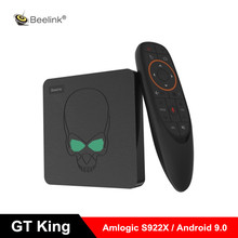 Beelink GT King Smart Android 9.0 TV Box Amlogic S922X 4GB 64GB 2.4G Voice Control 5.8G WiFi 1000Mbps Set Top Box Support 4K