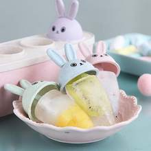 Ice Cream Popsicle Lolly Molds Cooking Tools Cartoon Cute Rabbit Reusable Frozen Pop Summer DIY Homemade Moulds
