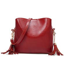 New Arrival Soft PU Leather Hand Bags Luxury Women Crossbody bag Fashion Shoulder Bag Lady elegant Tassel Sac A Main