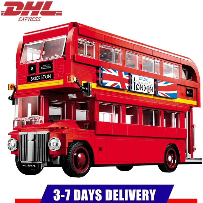 LEPIN Creator City Series The London Bus Car Building Blocks Sets Bricks Model Kids Toys Children Classic Compatible Legoings