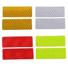 New 2 Pcs Vehicle Car Reflective Warning Strip Tape Bumper Strips Secure Reflector Stickers Decals Styling