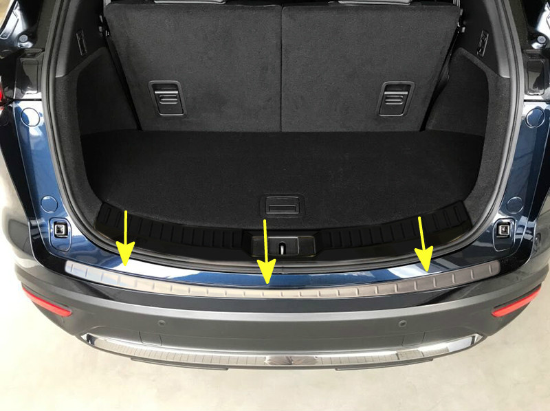For Mazda CX9 CX-9 2nd Gen. 2016 2017 2018 1 piece Stainless Steel Interior Rear Boot Trunk Bumper Protector Plate Sill Cover 1 stainless steel rear trunk sill rear bumper protector plate cover trim for mazda cx 5 cx5 2nd gen 2017 2018 accessories