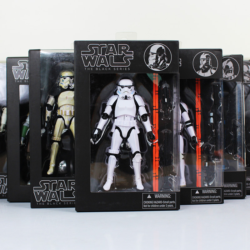 16cm Star Wars Figure Toy Black Knight Darth Vader Stormtrooper PVC Action Figures Collectable Model Dolls Retail Box WU053 playarts kai star wars stormtrooper pvc action figure collectible model toy