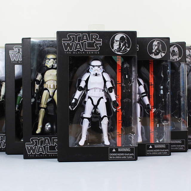ccfed24c 16cm Star Wars Figure Toy Black Knight Darth Vader Stormtrooper PVC Action  Figures Collectable Model Dolls Retail Box WU053
