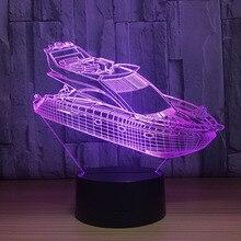 3D льда модель яхты привело модель с творческие игрушки интерьера украшение