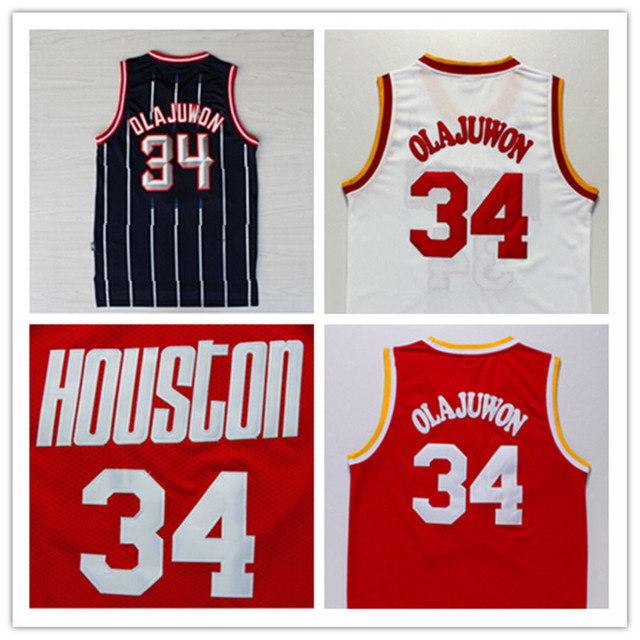 41aded2eb Hakeem Olajuwon Jersey Free shipping, Cheap Wholesale Embroidery Logos  Houston Throwback Basketball Jersey Retro dream Jersey