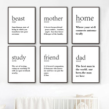 7-Space Modern Children Study Vocabulary Definitions Decorative Pictures Canvas Painting For Kids Room Wall Art Print Decoration