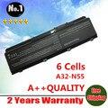 Al por mayor nueva 6 celdas de batería portátil para asus n45 n45e n45s n45f N45J A32-N55 N55 N55E N55S N55F N75 N75S N75E N75F envío gratis