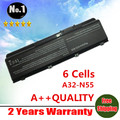 Wholesale New 6cells Laptop battery For asus N45 N45E N45S N45F N45J N55 N55E N55S N55F N75 N75S N75E N75F A32-N55 free shipping