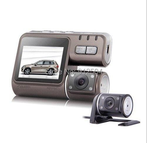 Free EMS RU! Dual Lens Camcorder i1000 Car DVR Camera 1080P Dash Cam Black Box Rear Vehicle View Dashboard Cameras - Shenzhen VOV Technology Co., Ltd. store