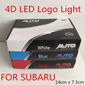 Free Shipping Car Waterproof 4D LED EL Cold light badge logo Emblem Lamp for SUBAR U Forester/Legacy/Impreza/Outback/Tribeca/XV