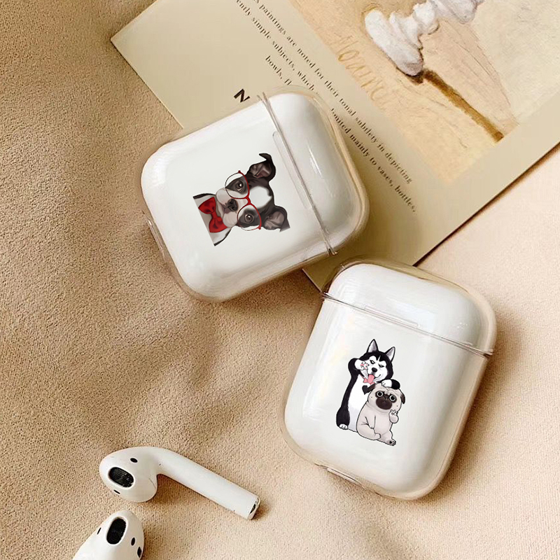 Animal Case For Apple Airpods Case Cute Pet Dog Cat Wireless Bluetooth Earphone Case For Airpods Headphone Hard Protective Case