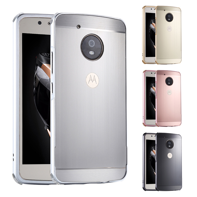 half off 912d4 d52ec US $7.88 5% OFF|For Moto G5 Plus G5Plus XT1683 Case Metal Frame Cover with  Brushed Back Cover Hard Case for Motorola Moto G5 Plus Cedric XT1685-in ...