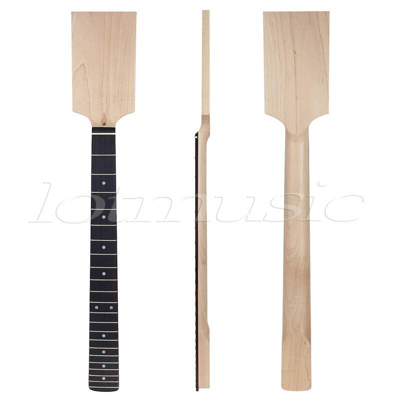 E-gitarre Hals Paddle Kopf Palisander auf Maple 22 Bünde Dot Inlay Unfinished
