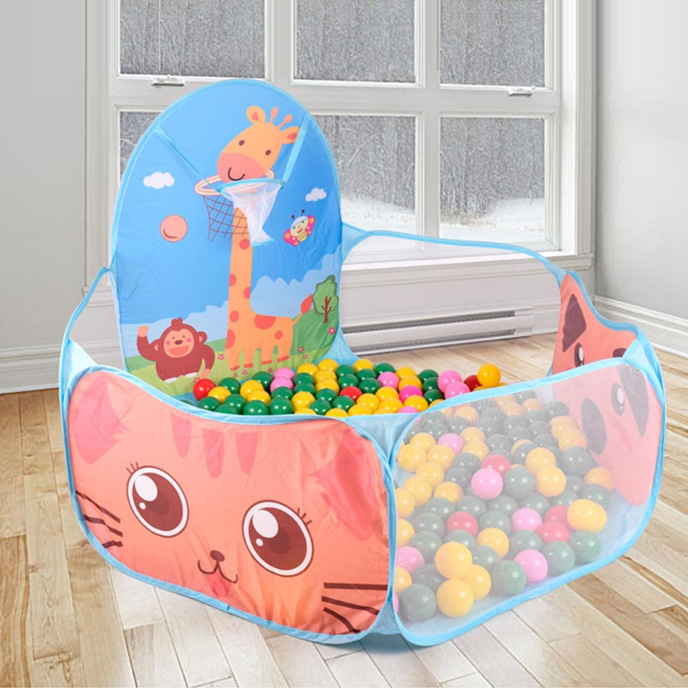 Playhouse Foldable Children Kid Ocean Ball Pit Pool Game Play Tent Ball Hoop In/Outdoor Play Hut Pool Play Tent House tents Gift