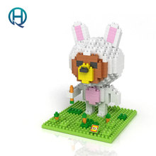 Mini Nano Blocks Disguised Rabbit BROWN BEAR LOZ Building Blocks Bear Action Figure Diamond Blocks Compatible Legoelieds 9433