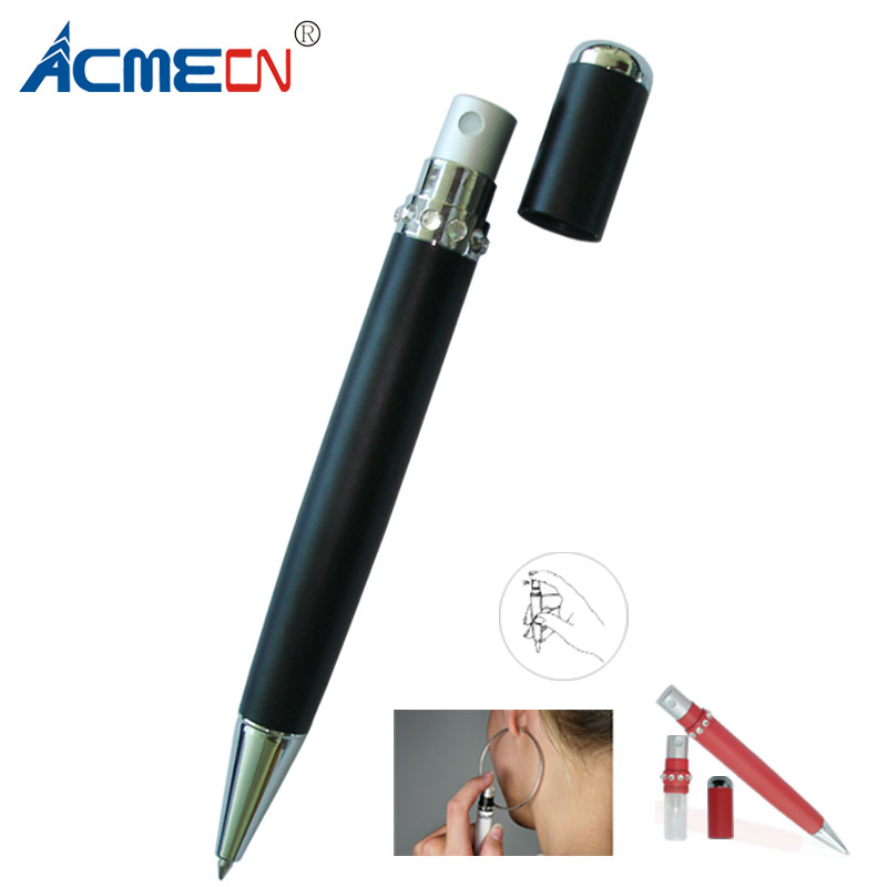 Original Design Fashion Ball Pen with Atomizer Multi-function Pen 3ml glass bottle Perfume Capacity Fragrance Accessories Gift