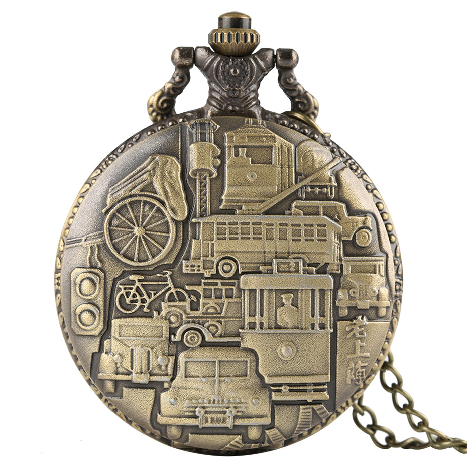 Vintage Old Shanghai Quartz Pocket Watch Necklace Pendant Casual Fob Women Men Watches Clock Birthday Gifts 2019 New Style