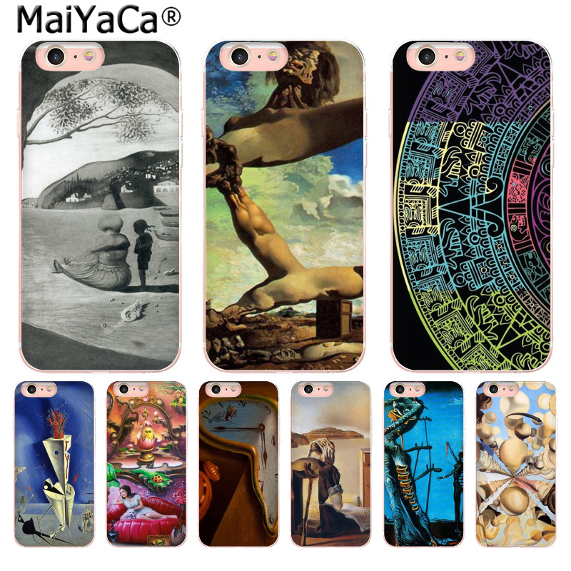 MaiYaCa Salvador Dali Clear Cell Fashion Fun Dynamic phone case for Apple iPhone 8 7 6 6S Plus X 5 5S SE 5C 4 4S Mobile Cover