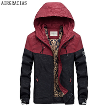 AIRGRACIAS Autumn Men s Camouflage Outwear Clothing Patchwork Jackets Lightweight Coat Pockets Casual Coats 3 Colors