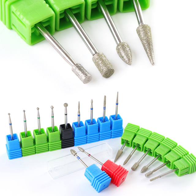 "Diamond Drill Bit 17 Type 3/32"" Milling Manicure Cutter for Pedicure Electric Machine Device Tool Nail Art Burr Drill CHJG01-17"
