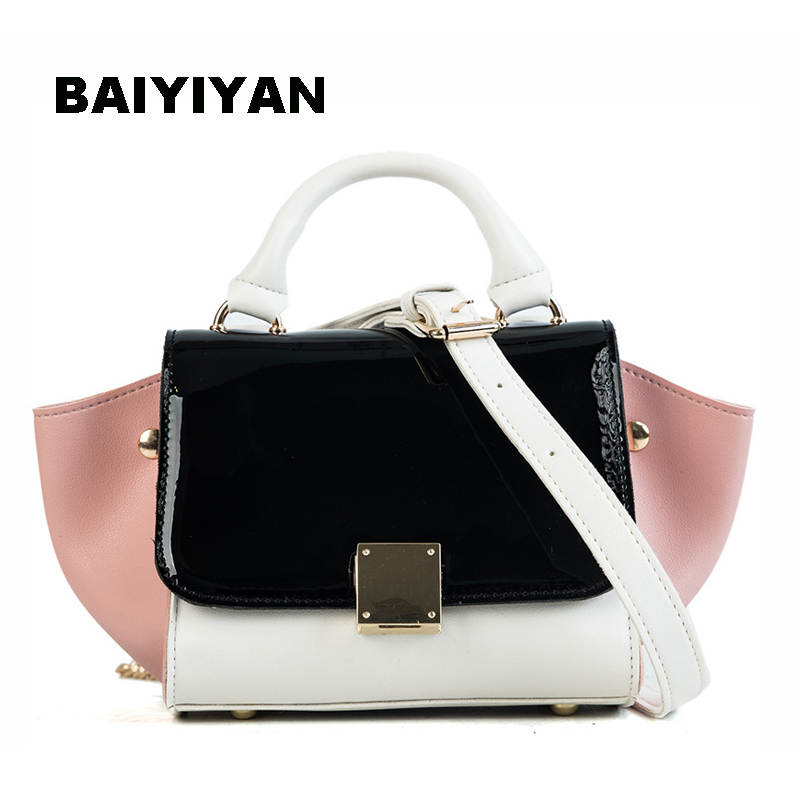 Summer Hit Color Trapeze Bags Fashion Women Designer Handbags High Quality PU Leather Swing Shoulder Messenger Bags