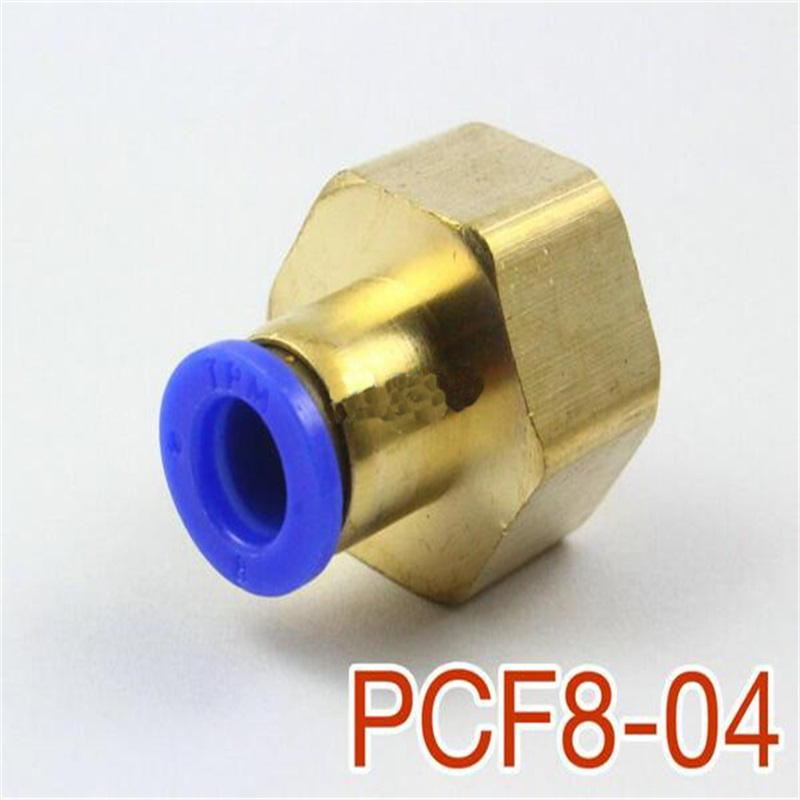 5 Pcs PCF8-04 8mm Tube 1/2 internal thread pneumatic straight push-in fittings 8mm tube to 8mm tube plastic pipe coupler straight push in connector fittings quick fitting