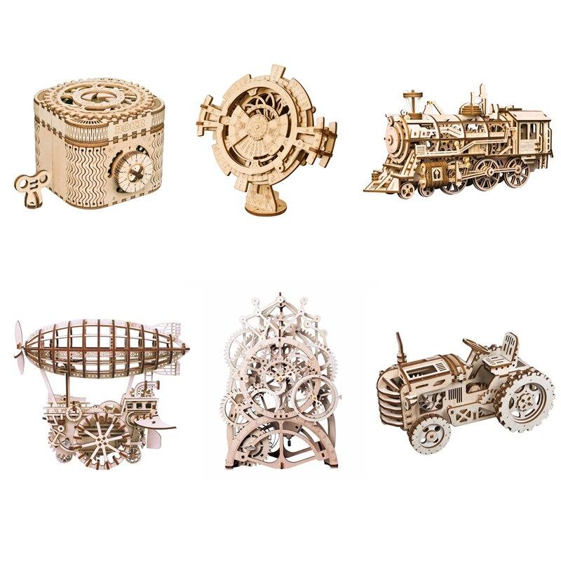 Bricolage en bois artisanat Vintage modèle décoration de la maison accessoires bois bricolage figurines miniatures cadeau pour enfants enfants adultes