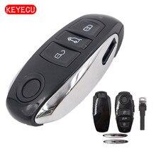 Keyecu Замена Smart Remote Ключи В виде ракушки Дело брелок 3 Кнопка для VW Volkswagen Touareg 2011-2014