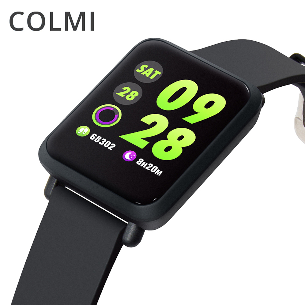 COLMI Smart Watch IP68 Waterproof Activity Fitness Tracker Heart Rate Blood Pressure Bluetooth Smartwatch For Android IOS colmi smart watch oled screen heart rate blood oxygen pressure brim ip68 waterproof activity tracker for android and ios phone