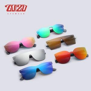 Image 5 - 20/20 Brand Vintage Style Sunglasses Men Flat Lens Rimless Square Frame Women Sun Glasses Oculos Gafas PC1601