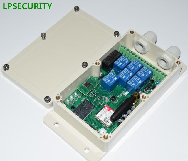 LPSECURITY 2G 4G GSM RELAY GSM صندوق تحكم وحدة تحكم عن بعد للباب التلقائي بوابة مضخة آلة لتخزين مياه الآبار سخان في الهواء الطلق
