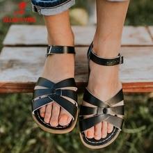 ALLENLYNN New INS Hot Concise Flat Gladiator Sandal