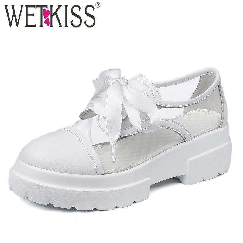 Noir Rond Plate forme Mode Femmes 2019 Leathe blanc Croix Printemps Mouillé Pvc Baiser Bout Casual Appartements Femme Vache Chaussures Liée xPU4F10w