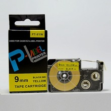 100% Compatible Tape Label Black on Yellow XR-9YW1 EZ-label 9mm for casio KL printer