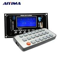 Aiyima LCD 12 볼트 WMA WAV MP3 플레이어 디코더 오디오 보드 FM 블루투스 수신기