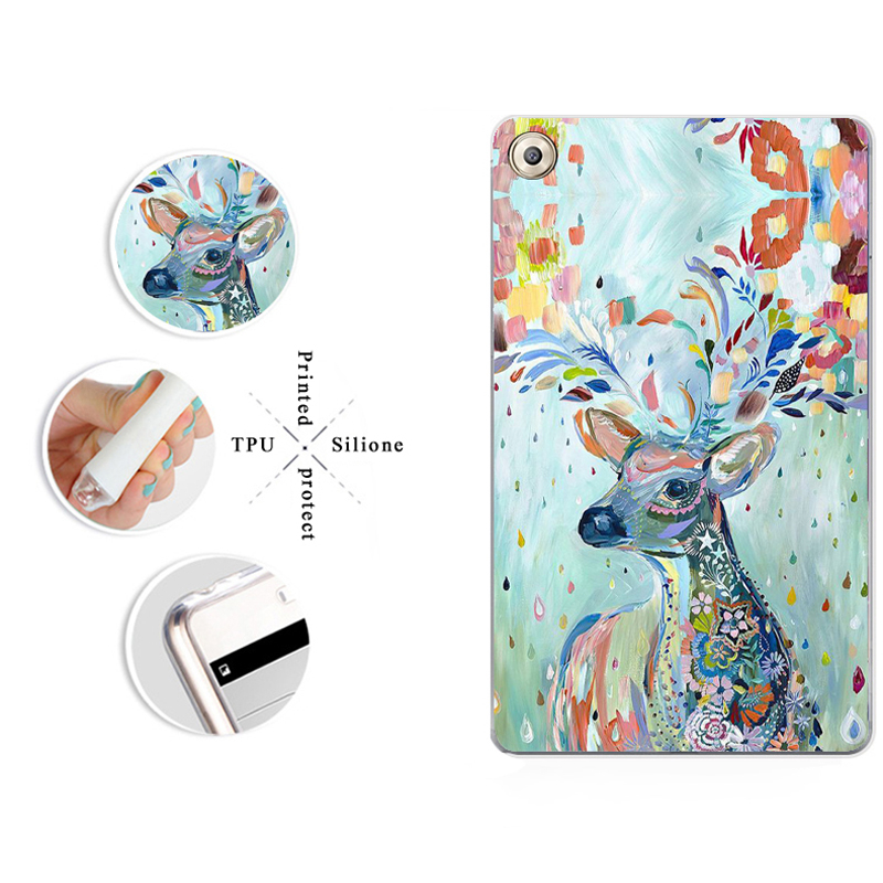 Painted Ultra Thin Case For Samsung Galaxy Tab S3 LTE T825 T820 9.7 Inch Soft TPU Silicone Cover New Year\'S Day Gift