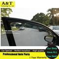 AKD visor car styling Chrome Deflector de Viento Viso Lluvia/Guardia Sun Vent FIT Para 2010-2012 Nissan Altima Lluvia escudo