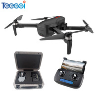 Teeggi W10 GPS 5G WIFI RC Drone FPV Brushless Quadcopter With 4K Ultra clear Camera Selfie Foldable Drones RTF VS F11 CG033 H117